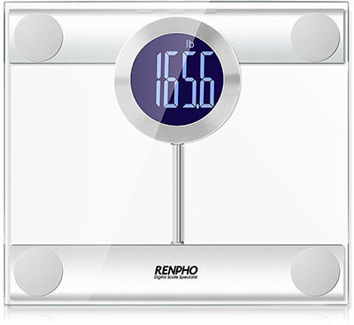 GDEALER Tempered Glass Digital Body Weight Bathroom Scale