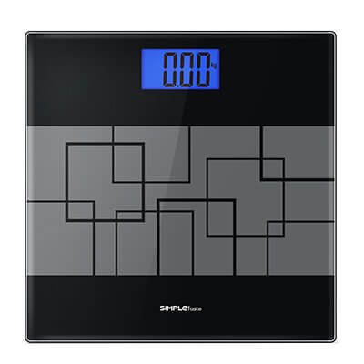 SimpleTaste Tempered Glass Digital Bathroom Scale