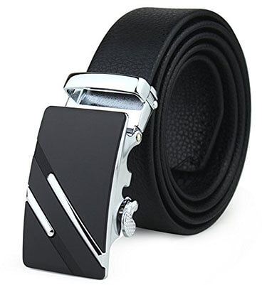Fantastic Zone Men's Leather- Ratchet Dress Belt