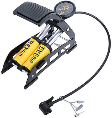 IH-TECH, Aluminum Body Bike Foot Pump, 200PSI, Smart Valve Head