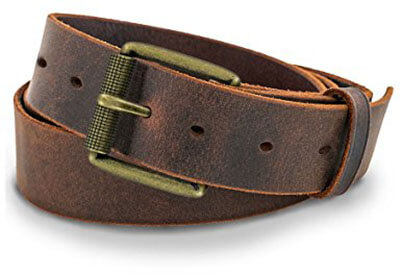 Hanks Jean Men's Leather Belt, 100-year warranty