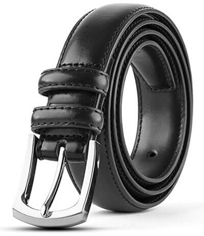 Synthic Apparel Men's Classic Dress Leather Belt