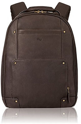 SOLO Premium Leather 15.6-Inches Laptop Backpack