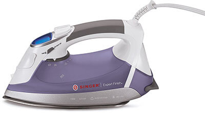 SINGER Anti-Drip Steam Iron, Brushed Stainless Steel Soleplate, 1700 W