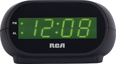 RCA Digital Alarm Clock, Night Light