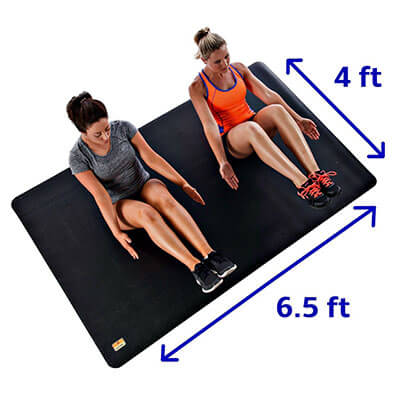 Pogamat Large Exercise Anti-Tear Workout Mat