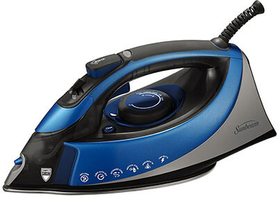 Sunbeam Turbo Steam iron, XL-size Anti-Drip Non-Stick Soleplate Iron