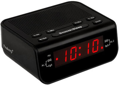 Peakeep Little Digital FM Alarm Clock Radio, Sleep Timer