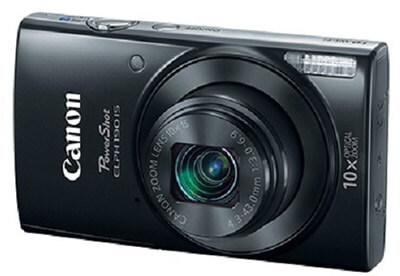 Canon ELPH 190 IS PowerShot, 10x Optical Zoom, Built-In Wi-Fi