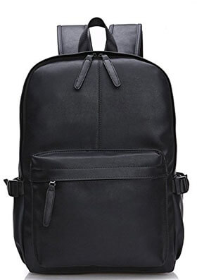 Abshoo Vintage Synthetic Leather Men's Casual College Travel Backpacks