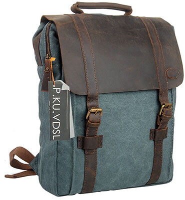 P.KU.VDSL Canvas Backpack, Laptop Backpac