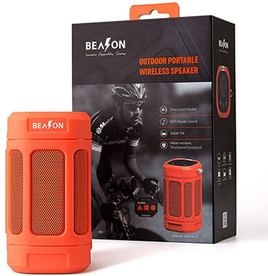 BEASON Portable Bluetooth Speaker, IPX4 Waterproof Rating