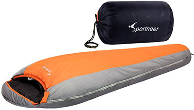Sportneer Ultralight Mummy, 3 Season Sleeping Bag, +20F