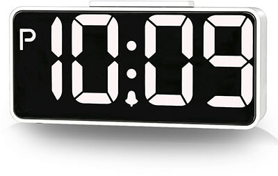 ZHPUAT 8.9-Inches Screen Digital Alarm Clock