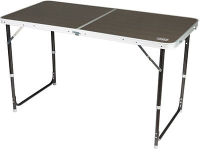 Timber Ridge Folding Utility Outdoor Camping Table, Adjustable Height