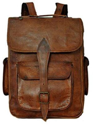 Messenger of Leather Vintage Leather Rucksack