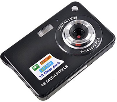 KINGEAR HD Mini Digital Camera, 2.7-inch Display