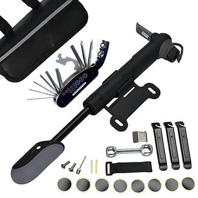 DAWAY A35 Bike Repair Kit, 16-in -1 Multi Tools and Mini Pump