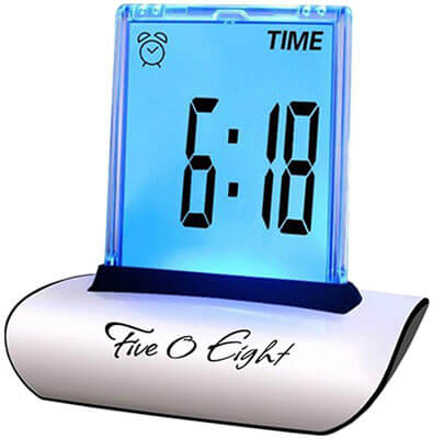 FIVE 0 EIGHT Digital Alarm Clock Desk Clock