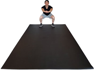 Square36L Exercise Mat Cardio and Plyometric Workouts Mat
