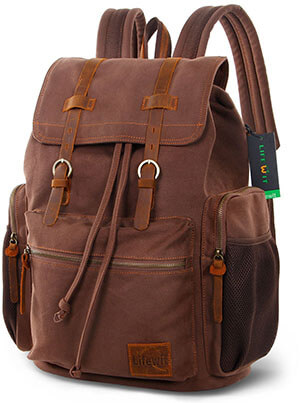 Life wit 17- Inch Canvas Laptop Backpack