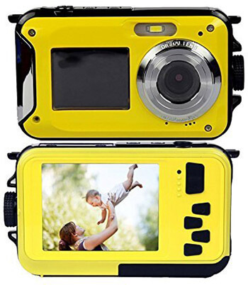 PowerLead PLDH19 Double Screens Digital Camera, Waterproof
