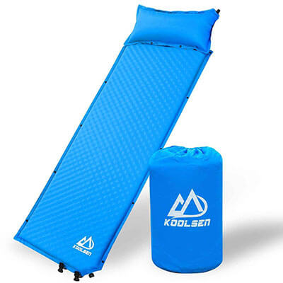 Koolsen Self-inflating sleeping pad with pillow