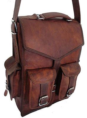 Temptation Art Handmade Craft Vintage Leather Backpack Bag