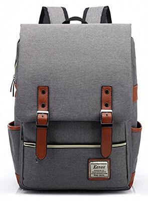Kenox Vintage Laptop College Backpack School Bag