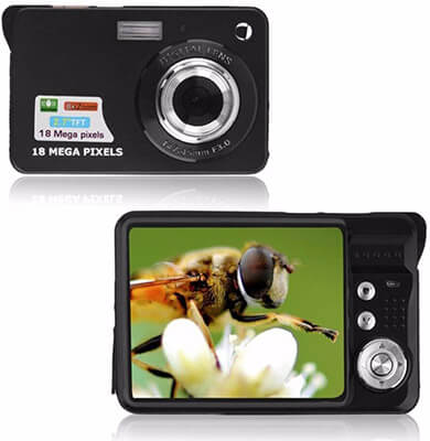 KINGEAR HD Digital Camera, 2.7-Inch TFT LCD