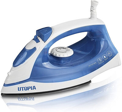 Utopia Home Nonstick Soleplate Steam Iron