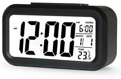 Xinton Tech Electric Induction Electronic Clock, Smart Backlight