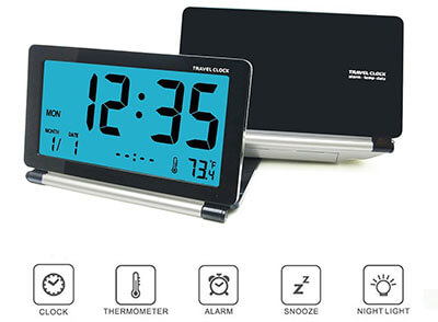 KRASR-Tech Mini Digital Desk Folding Electronic Alarm Clock