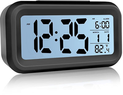Lazaga Large LCD Display Digital Alarm Clock