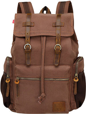 Wowbox 17-Inch Laptop Canvas Backpack