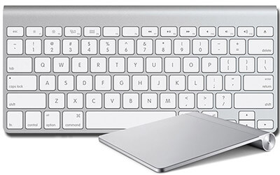 Apple Bluetooth Trackpad and Keyboard