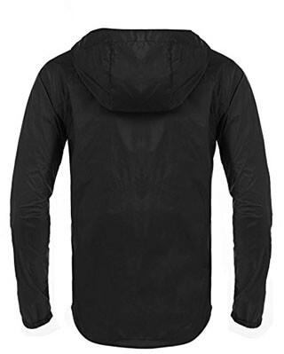 Coofandy Unisex Packable Waterproof Hooded Raincoat
