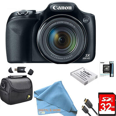 DigitalandMore Canon Powershot SX530 HS Digital Camera, 16MP