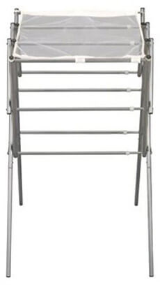 Household Essentials 5127 Satin Silver Clothes Drying Rack