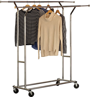 Deco Brothers Double Rail Rolling Drying Rack