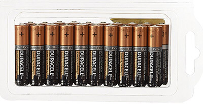 Duracell MN2400 AAA Coppertop Batteries