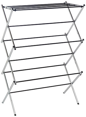 AmazonBasics Chrome Foldable Laundry Drying Rack