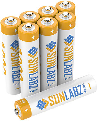 SunLabz Rechargeable 8-pack Batteries