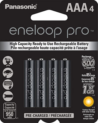 Panasonic Eneloop Pro BK Pre-Charged Rechargeable Batteries