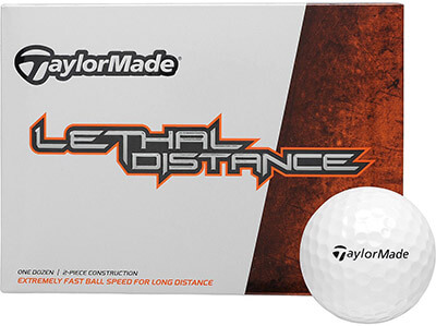 TaylorMade Lethal Distance White Golf Ball