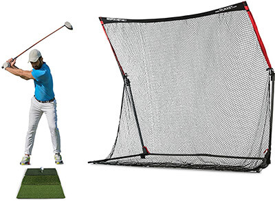 Rukket SPDR Golf Net Professional Driving Range with Tri Turf Mat
