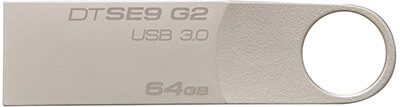 Kingston Digital Data Traveler SE9 Flash Drive, 64 GB