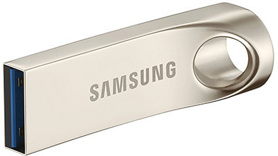 Samsung 32GB BAR Flash Drive, Metallic