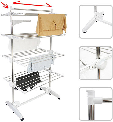 Todeco Clothes Drying Rack