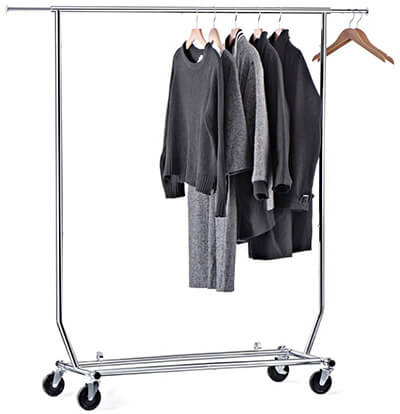 House Day Rolling Clothes Rack